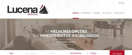 Site criado para Imobiliária Lucena Imóveis