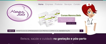Site criado para Mamma Bella