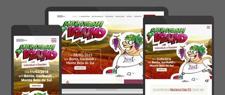 Design Responsivo criado para Maratona do Vinho