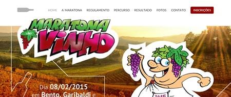 Site criado para Maratona do Vinho