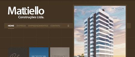 Site criado para Mattiello Construções