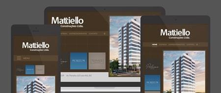 Design Responsivo criado para Mattiello Construções