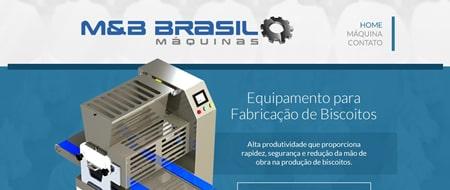 Site criado para MeB Máquinas