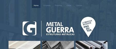 Site criado para Metal Guerra - Estruturas Metálicas