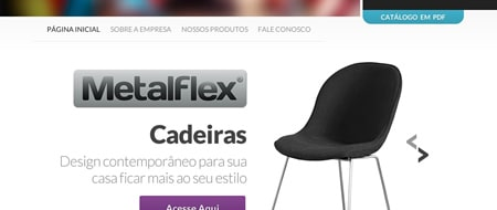Site criado para Metalflex