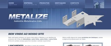 Site criado para Metalize