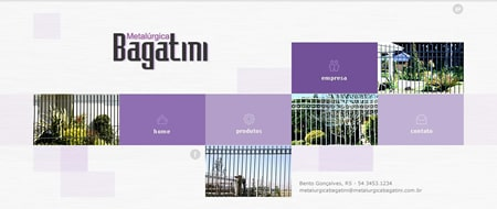 Site criado para Metalúrgica Bagatini