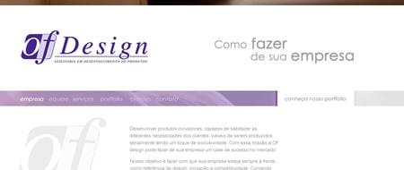 Site criado para OF Design