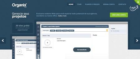 Site criado para Organix