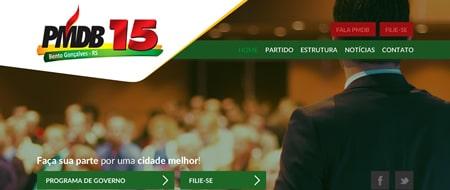 Site criado para PMDB Bento Gonçalves