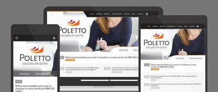 Design Responsivo criado para Poletto Soluções em Gestão