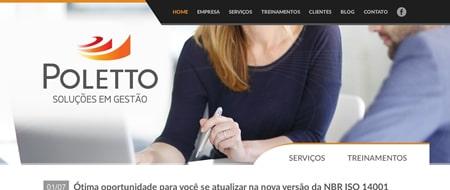 Site criado para Poletto Soluções em Gestão