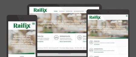Design Responsivo criado para Raifix