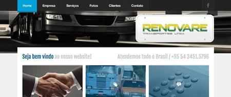 Site criado para Renovare Transportes
