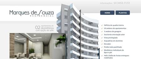 Site criado para Residencial Marques de Souza
