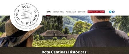 Site criado para Rota Cantinas Históricas