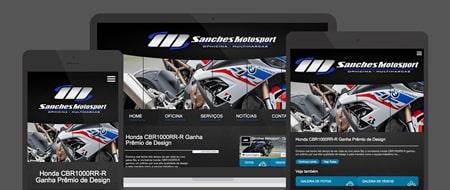 Design Responsivo criado para Sanches Motosport