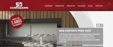 Site criado para SB Churrasqueiras