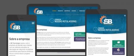 Design Responsivo criado para SB Tecnologia