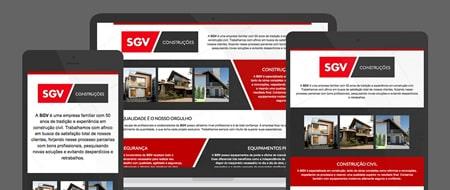 Design Responsivo criado para SGV Construções