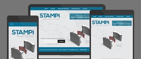 Design Responsivo criado para Stampi Moldes e Injeção