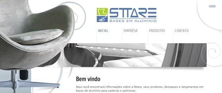 Site criado para Sttare Bases em Alumínio