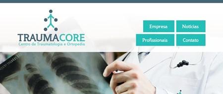 Site criado para Traumacore - Centro de Traumatologia e Ortopedia