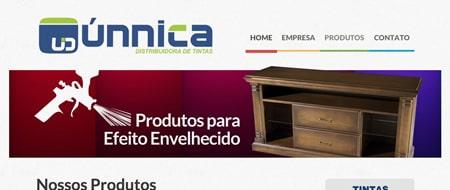 Site criado para Únnica Distribuidora de Tintas