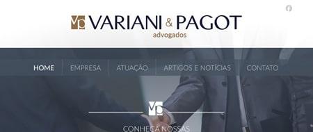 Site criado para Variani e Pagot Advogados