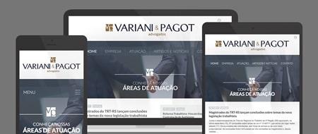 Design Responsivo criado para Variani e Pagot Advogados