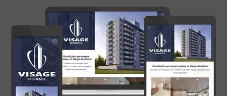 Design Responsivo criado para Visage Residence
