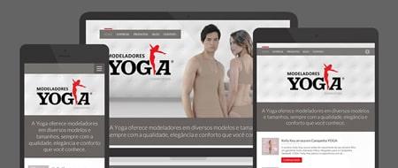 Design Responsivo criado para Yoga Modeladores